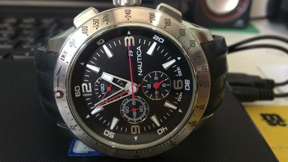 Relógio Náutica N17591g + Caixa ,manual Nf.