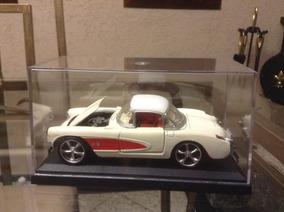Mini/ Corvette 1957. Escala 1/34. Sunnyside. Cx Acrílico.