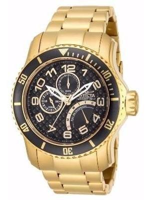 Relógio Invicta 15341 Pró-diver Em Plaquê De Ouro 18k Novo