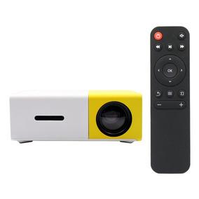 Mini Projetor Porto Til 1080p Led Multim Dia Amarelo