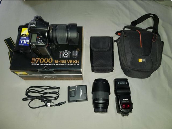 Máquina Nikon D7000 + 2 Lentes + Flash + Acessorios