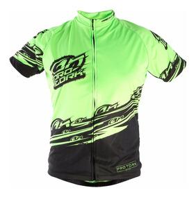 Camisa Ciclismo Bike Bicicleta Pro Tork Line 1 Hi-vis Verde