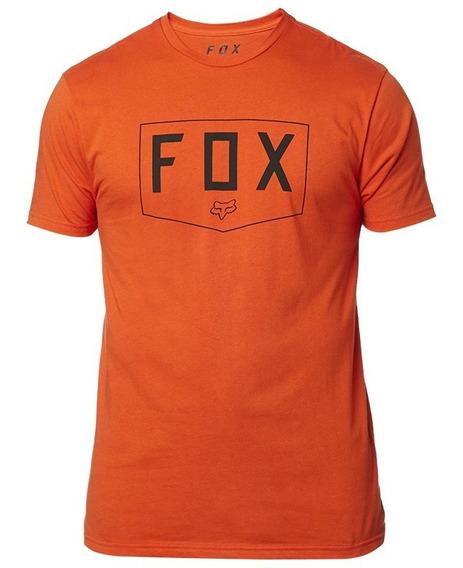 Playera Fox Premium Ss Shield Naranja Atmc