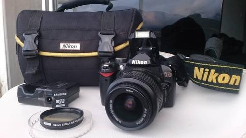 Camara Nikon D60 Reflex + Lente 18-55mm Como Nueva