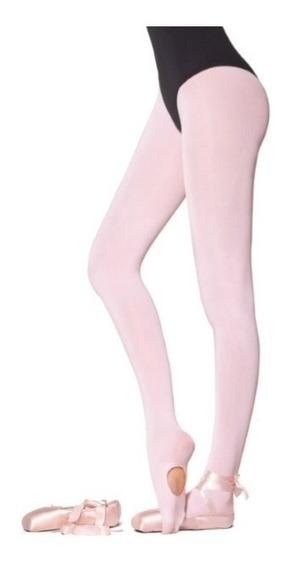 Meia Calça Ballet Versátil Loba Lupo Conversível Fio 60 Rosa