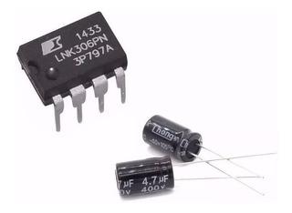 Kit Reparo Placa Electrolux Fonte 1 Lnk306 2 Capac 4.7 450v