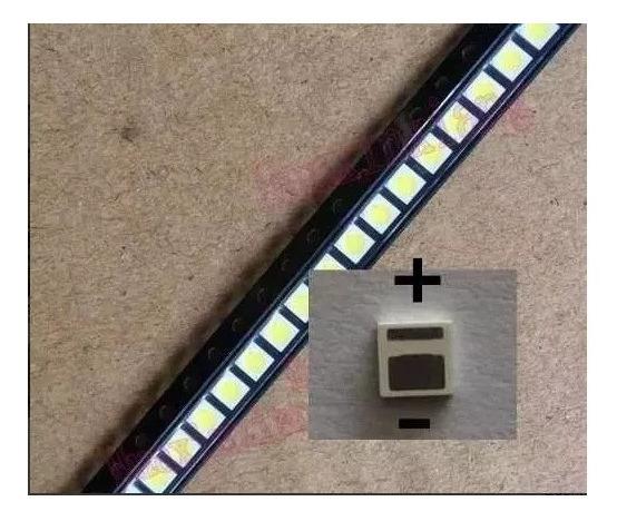 Kit 100 Leds 3030 6 Volts 1.8 Watts Tv Semp Philco Toshiba