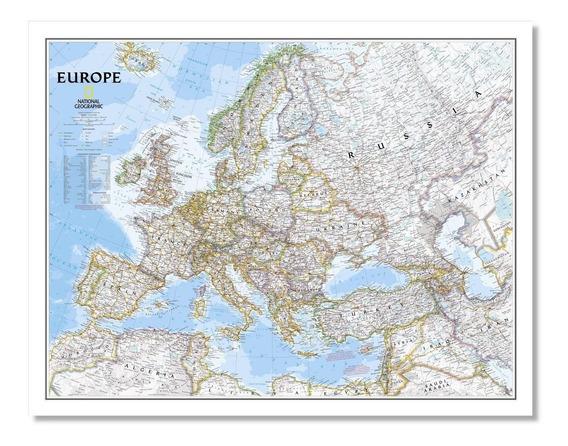 Mapa Político De Europa 78cmx61cm