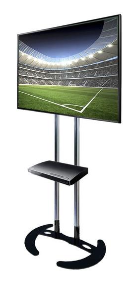 Pedestal Tv De Piso-suporte Tv Chão Base Fixa -com Bandeja