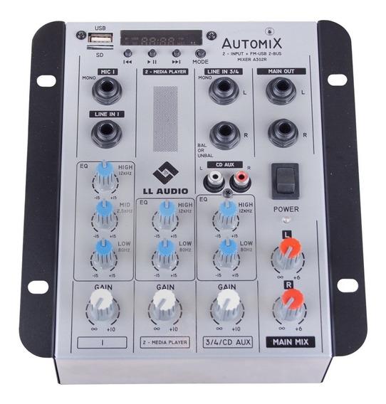 Mixer Ll Automix A302r Bt 12 Volts Com Usb - Carro