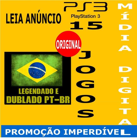 Pacote De 15 Jogos Digitais Originais Em Português Psn Ps3