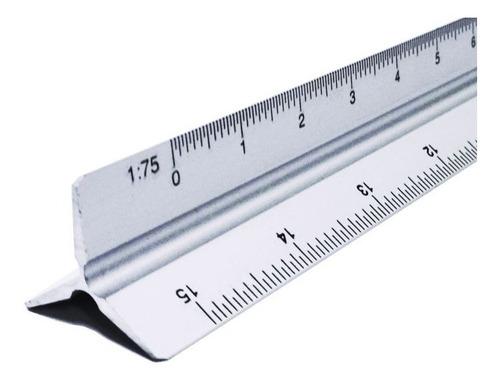 Escalimetro Plástico De 30cms 6 Escalas