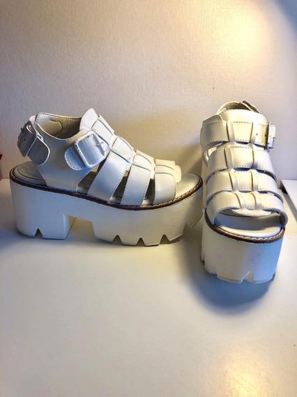 Zapatos Blancos De Taco