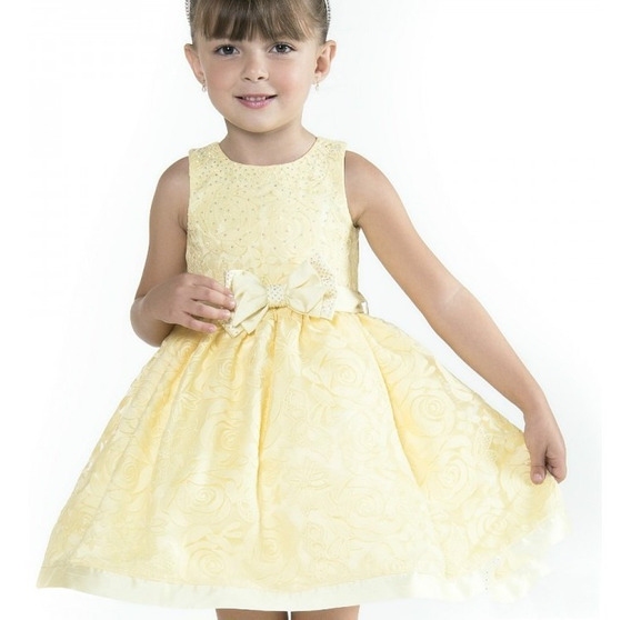 Vestido Petit Cherie Infantil Festa Com Strass 11.09.31184