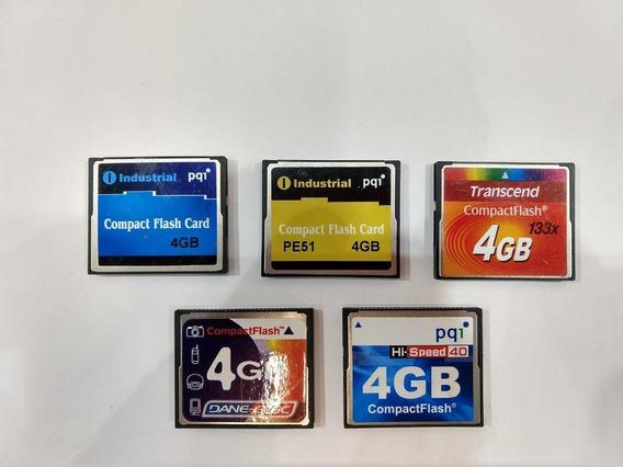 Lote Com 10 Compact Flash 4gb