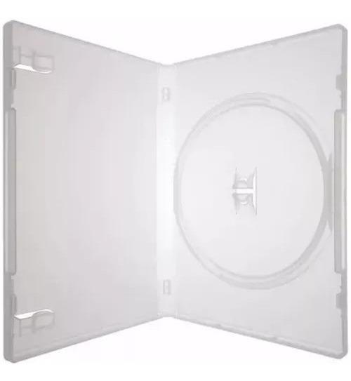 Box Capa Dvd 100 Capinhas Estojo Transparente Slim