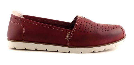 Mocasin Cuero Freeway Mujer Zapatos Goma Mcmo03644