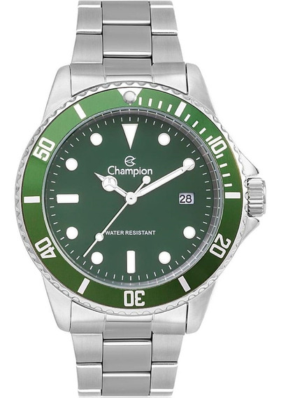 Relógio Masculino Champion Analógico Ch24759h Fundo Verde