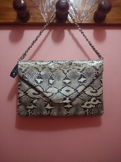 Cartera Sobre Clutch Xl Animal Print Reptil
