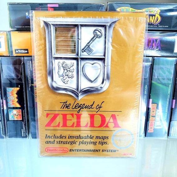 The Legend Of Zelda Dourada Cib Complera Nes Original