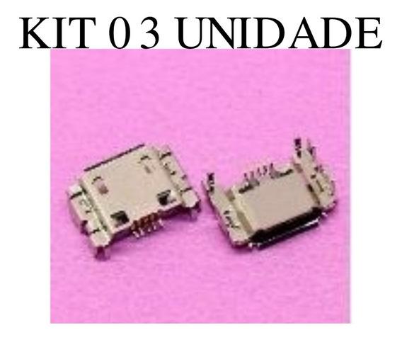 Conector Carga Usb Multilaser M7s Quad Core 3º Geração 03pçs