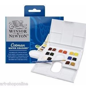 Acuarelas Cotman Pastillas Set X14 Colores Winsor & Newton