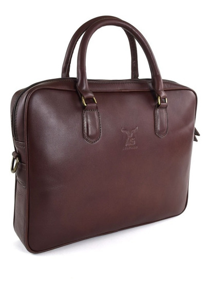 Portafolio Liso Laptop Ag Leather - 100% Piel Color Marrón