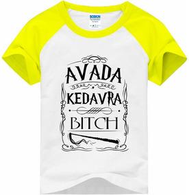 Camiseta Raglan Infantil Avada Kedavra Bitch - Harry Potter