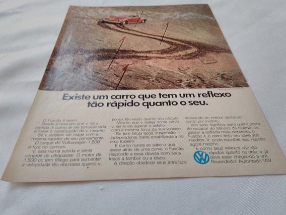 Propaganda Antiga Volkswagen Fusca 1974
