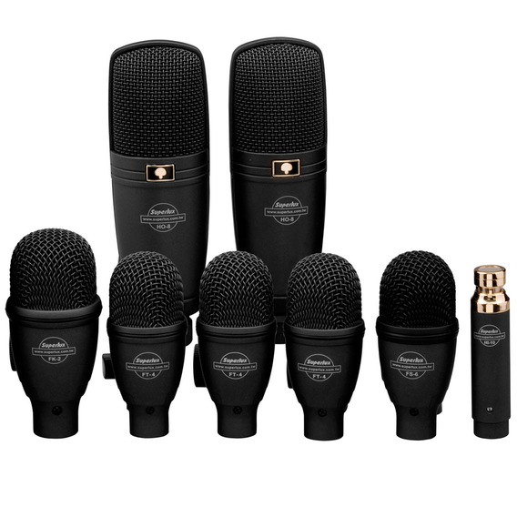 Microfone Dinâmico Para Instr (8 Und) - Drk F 5 H 3 Superlux