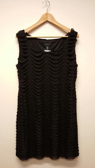 Vestido De Fiesta Negra R&m Richards Sin Uso