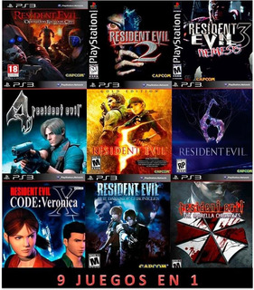 Resident Evil 2,3,4,5,6,collection Ps3 Digital (no Disco)