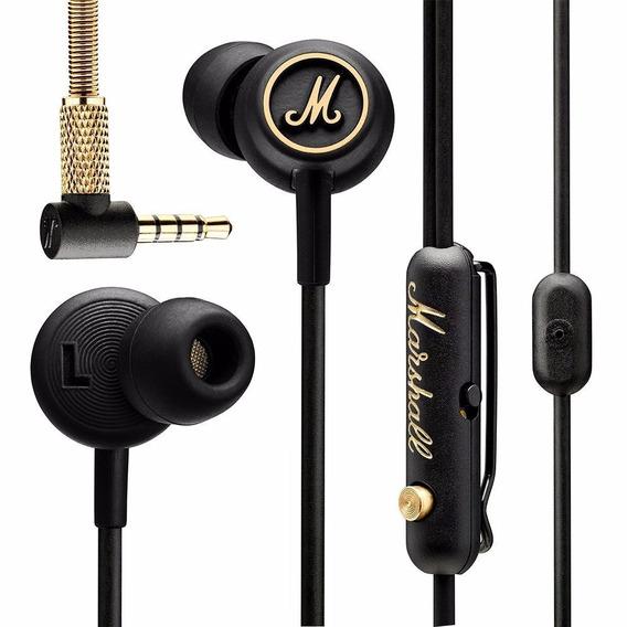 Fone De Ouvido In-ear Marshall Mode Eq Preto E Brass