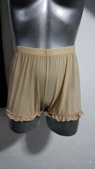 Hermosa Pantaleta Vintage Talla S Semitransparente Beige