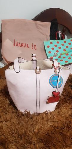 Cartera Juanita Jo. Rosa. Y Comor Baige Talles S