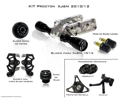 Kit De Slider Procton Racing Yamaha Xj6n Xj6 N - 5 Peças