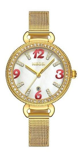Relógio Feminino Nibosi De Luxo 2317