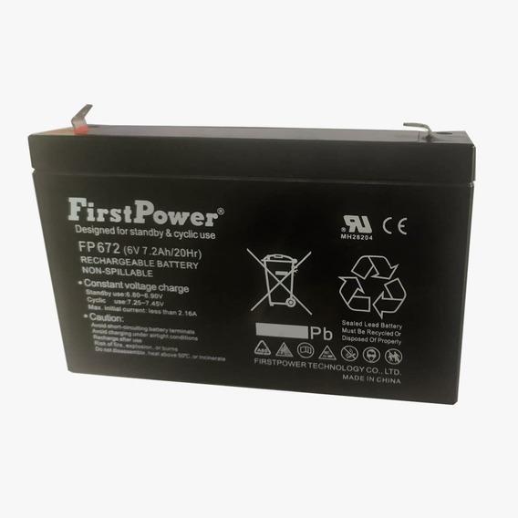 Bateria 6v 7,2 Ah Brinq Bandeirantes Magic Toys Biemme Fp672