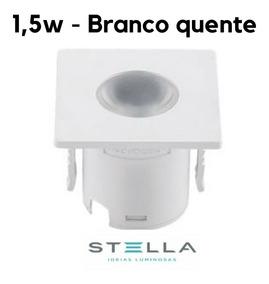 4x Mini Embutido Moveis Marcenaria 1,2w Stella Sth690 Branco