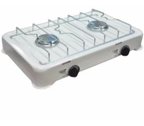 Imagen 1 de 6 de Anafe 2 Hornallas Doble Para Gas Nat O Env Oficina