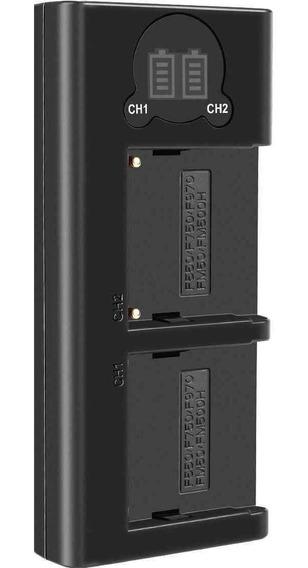 Duplo Carregador Dl Np-f970 Para Sony