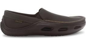 Crocs - Calzado De Cuero Para Hombre Tideline Sport