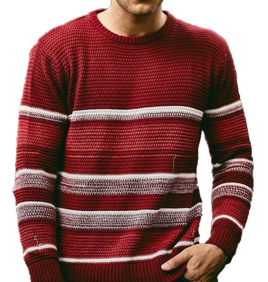 Sweater Algodon Rayado Escote Red Hombre | Taverniti (16488)