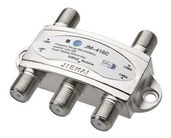 Chave Diseqc 4x1 + Lnb Quadruplo + Lnbf Duplo