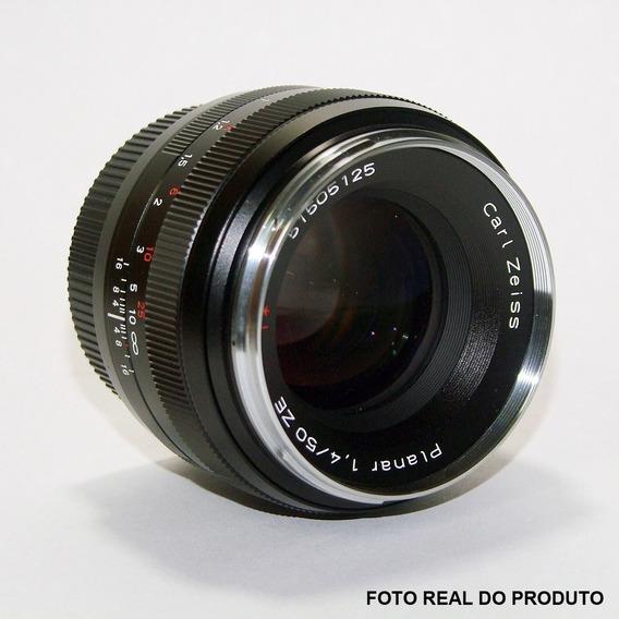 Lente Objetiva Planar Carl Zeiss - 1,4 - 50mm Ze + Filtro Uv