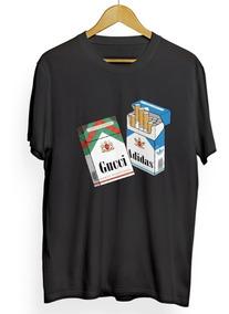 Camiseta Tumblr Swag T-shirt Gucci Hype Smoking Cigarro Trap