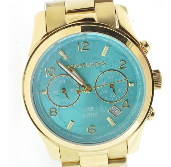 Relógio Michael Kors Mk5815 Turquesa - Original 12 X S/juros