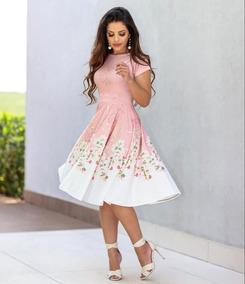 Vestido Midi Moda Feminina Pronta Entrega Evangélica Top
