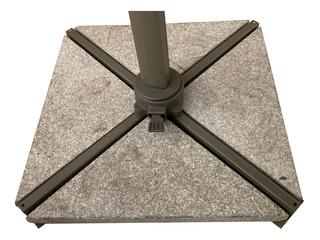 Base Sombrilla Grande Cuadrada Aluminio Reforzado