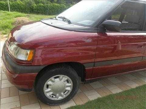 Mpv Mazda 1993 Gasolina 3.0 Mini Van 7 Lugares, Cor Vinho
